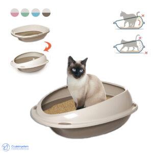 Macska alomtálca – 2 méretben + AJÁNDÉK macskaalom