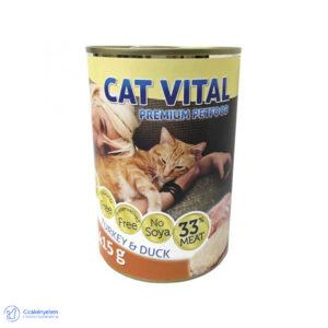 Cat Vital konzerv – kacsa és pulyka 415 g
