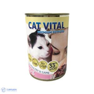 Cat Vital kitten konzerv – baromfi és vad 415 g