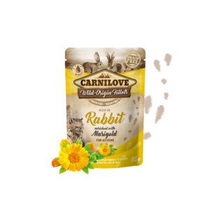 Carnilove Prémium Pástétom kölyök cicáknak – nyúl és körömvirág 85 g