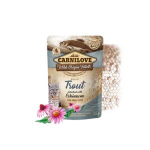 Carnilove Prémium Pástétom – pisztráng és echinacea 85 g